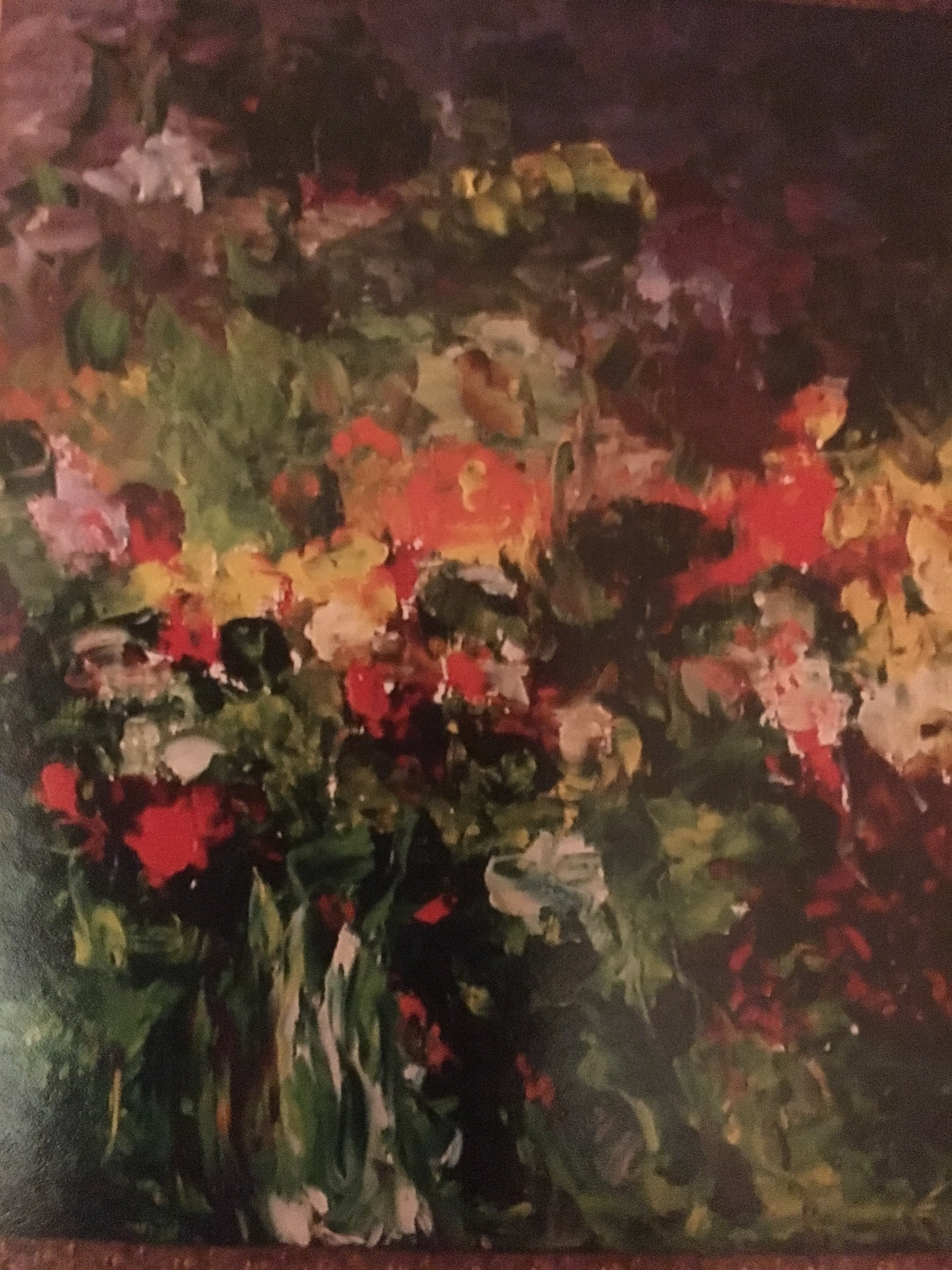 The Vase of River Garden Flowers 30 x24 Sold