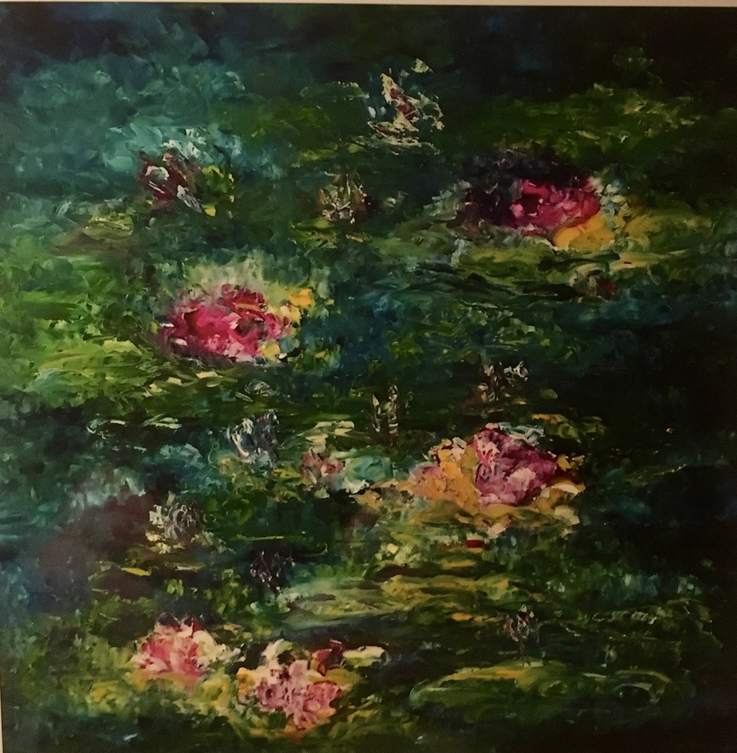 The Water Lillies Oil on Canvas 36x36 Sold