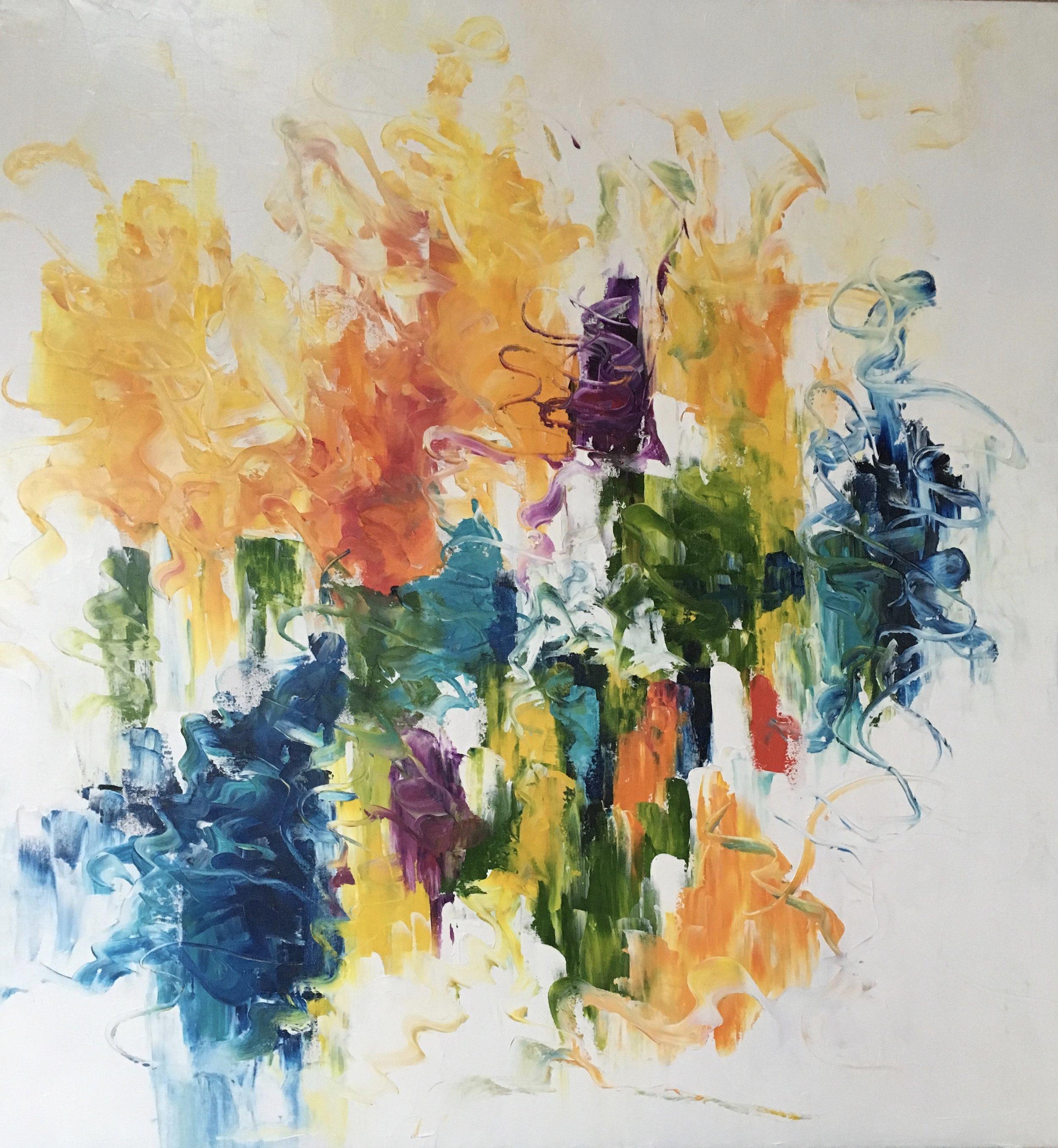SOLD: Celebration  36x36 Oil on Canvas