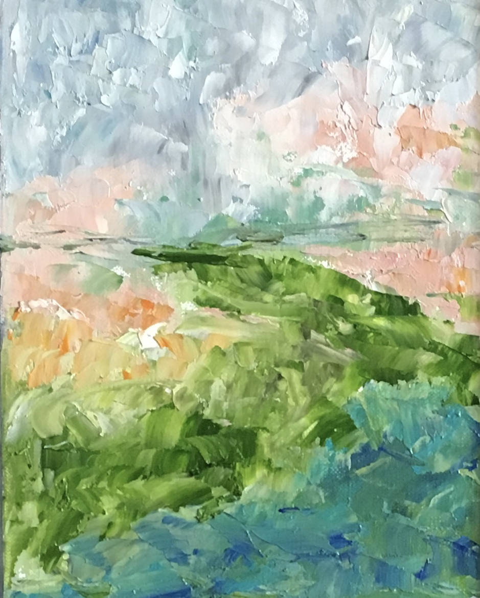 SOLD:  Molly's Pond  10x8 Petite Collection Oil on Canvas