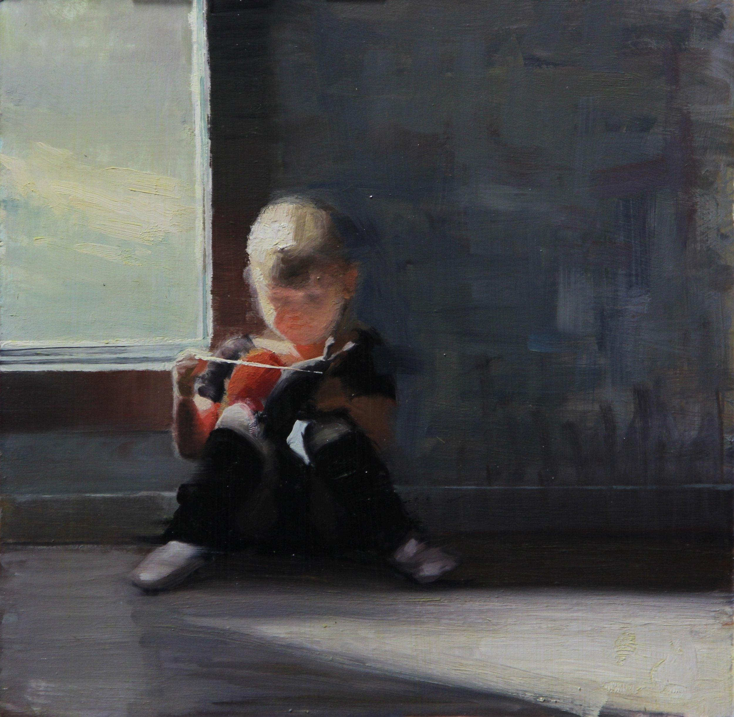 """ Everlee by Window""    12x12, Oil on Panel    $400"