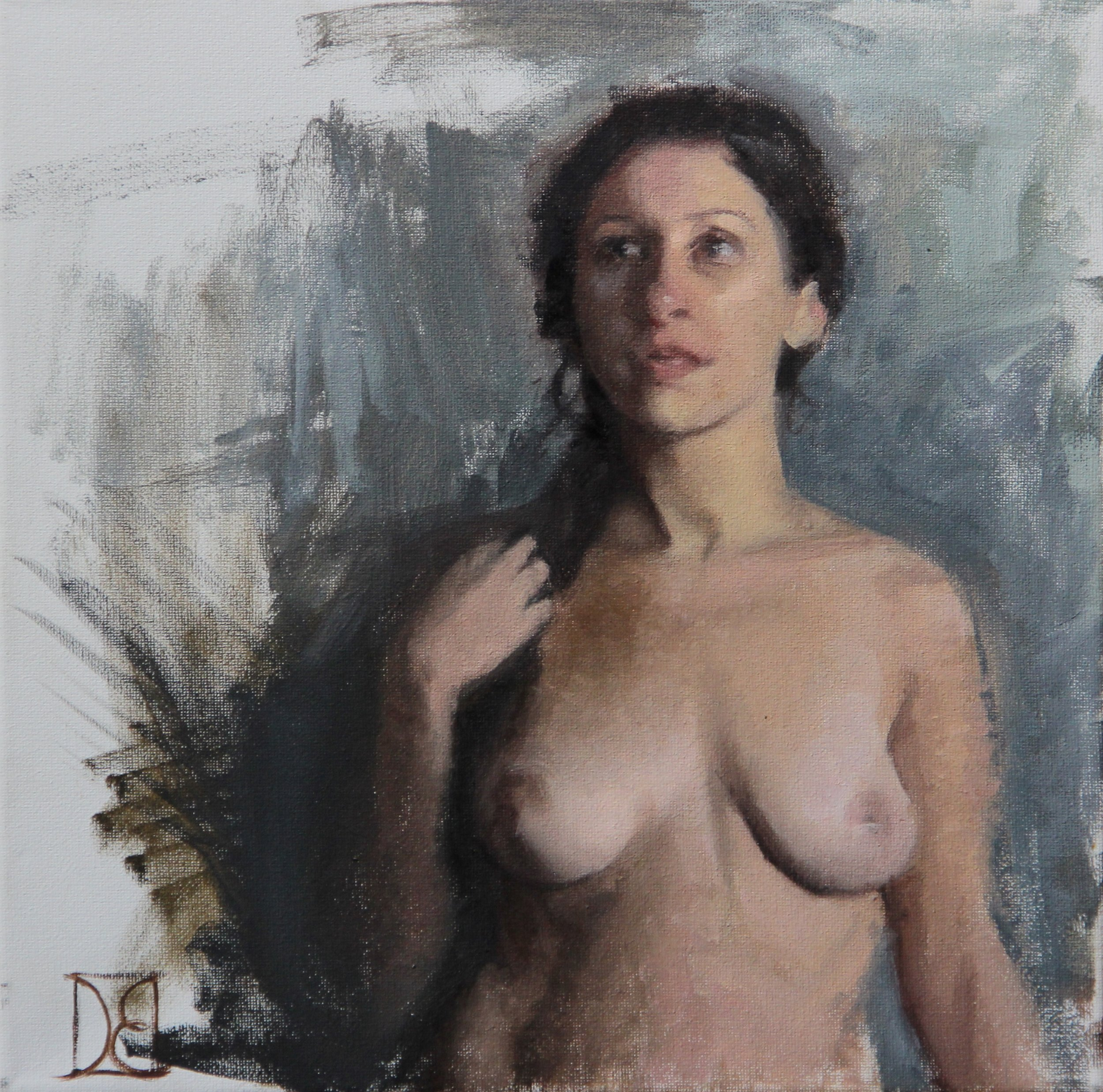 """""""Study of Stefanie""""   12x12, Oil on Canvas  $400 SOLD"""