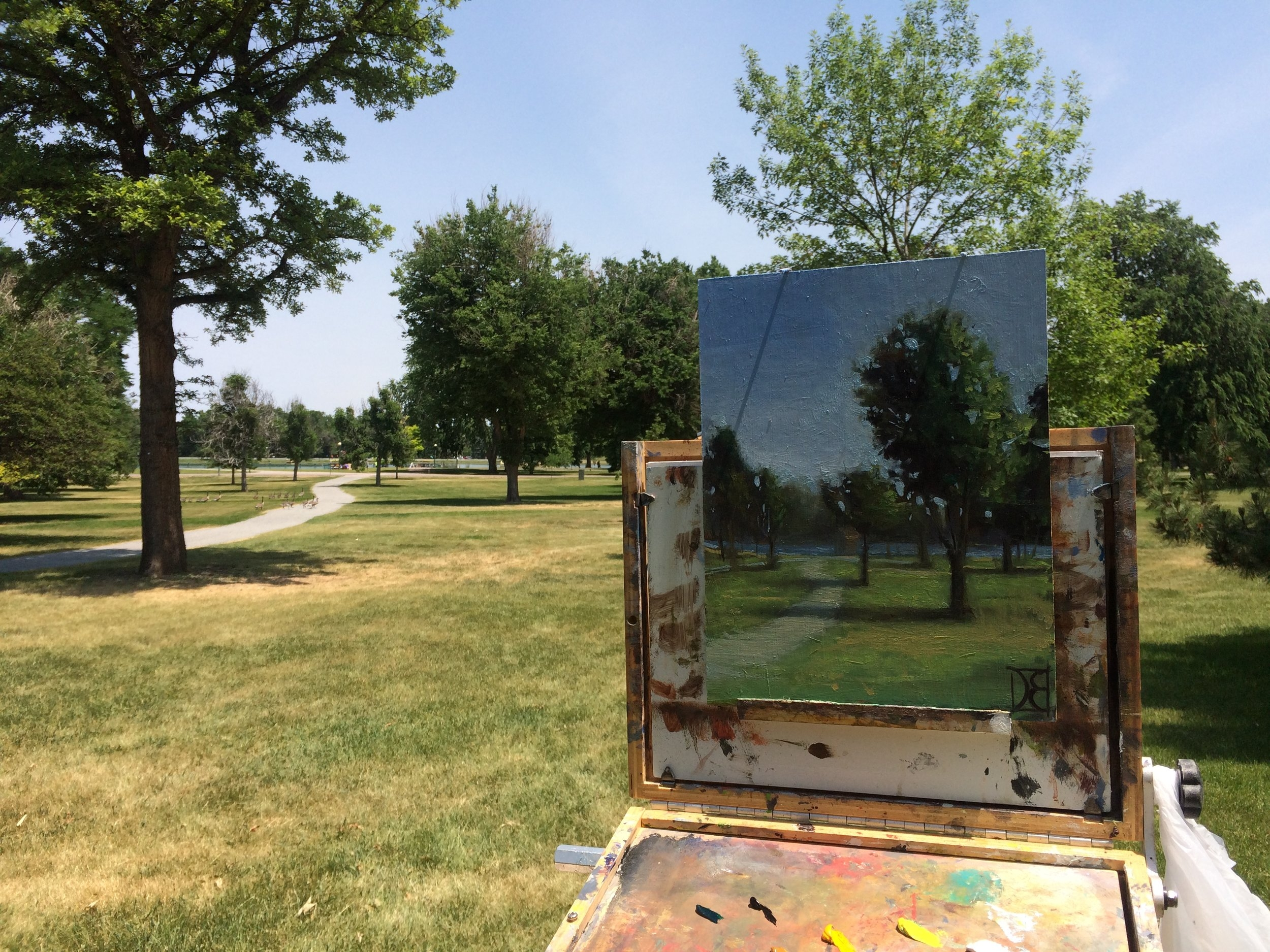 - Beautiful day to paint in  City Park.