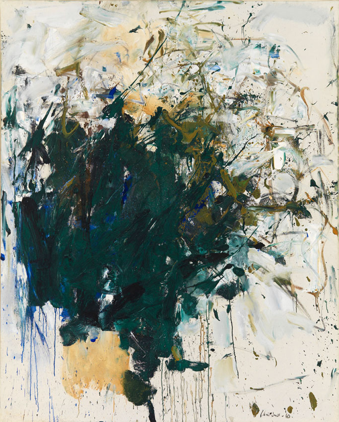 Joan Mitchell,  Untitled , 1960. Oil on canvas, 63 3/4 x 51 1/8 inches (161.9 x 129.9 cm). Collection of the Joan Mitchell Foundation, New York. © Estate of Joan Mitchell