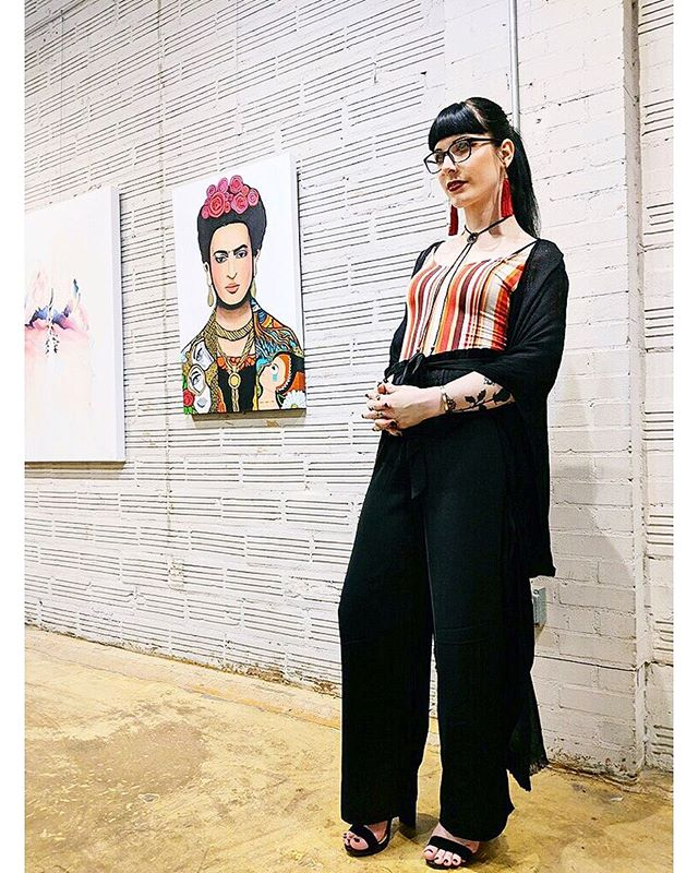 Viva Frida show FINAL DAY today, 3pm-7pm 🖤 prints are also at the show! But if you can't make it don't worry I have prints and posters available in my online SHOP 🖤 Link in bio 🖤 The original paintings Iv made will be available at @hardyandnancestudios in HTX so I hope to see you there!• • • #art #artist #painting #artwork #blackandwhite #instagay #trans #transgender #transwoman #transgirl #hou #htx #lgbt #lgbtq #witch #tattoo #tattoos #zodiac #witchesofinstagram #astrology #gay #watercolor #paint  #houston #feminist #fridakahlo