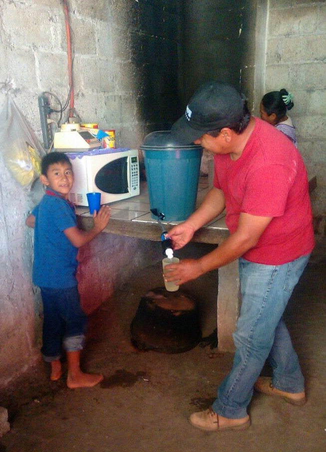 Clean Water - Serve Hope was able to provide this family in Mexico with clean drinking water through donations of the Clean Water Program.
