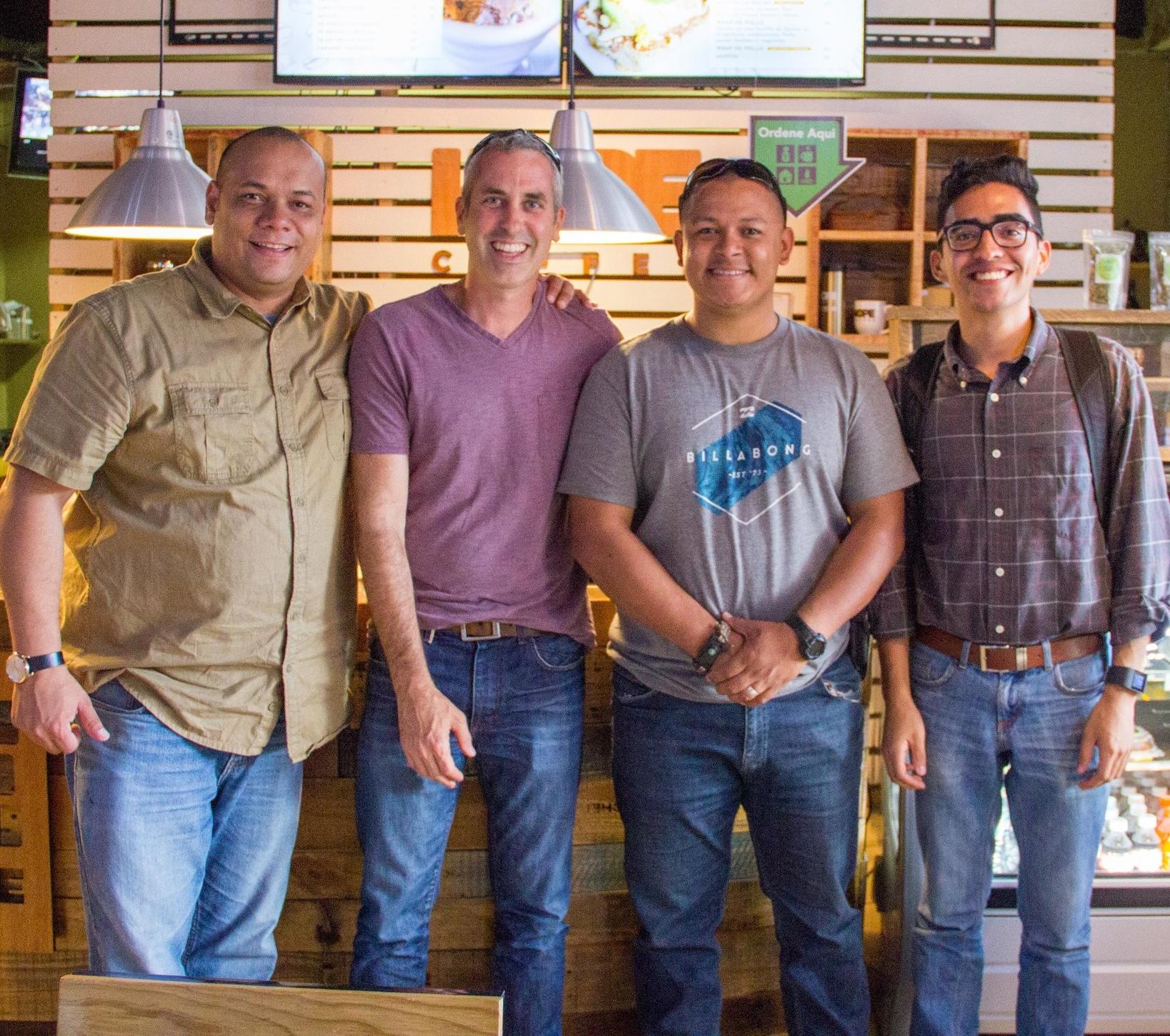 Cristian, Mark, Job, and Esteban, Model Farm Team