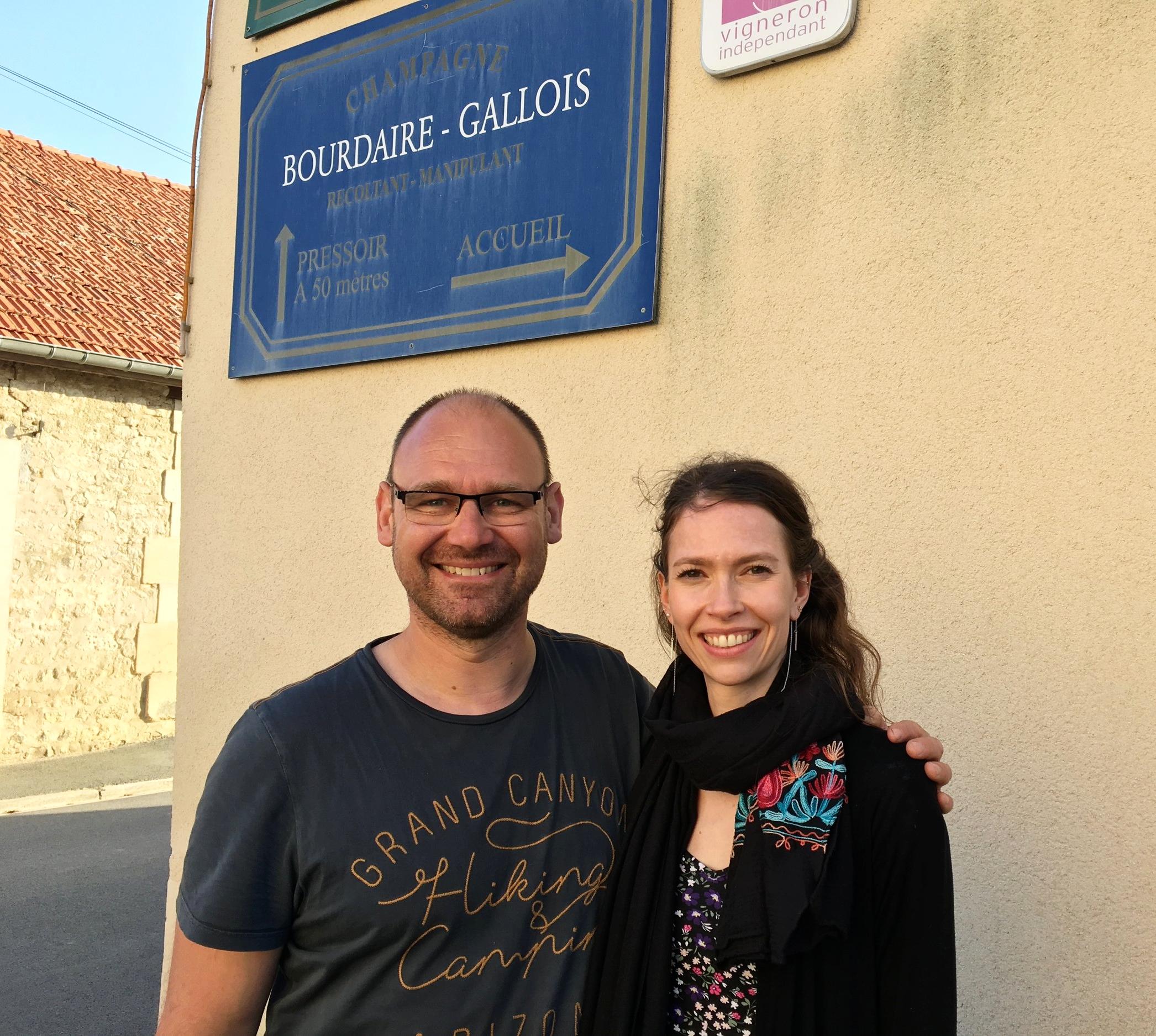 Avec David Bourdaire - Champagne Bourdaire-Gallois.  Crédit photo: Éléonore T-Fournier.