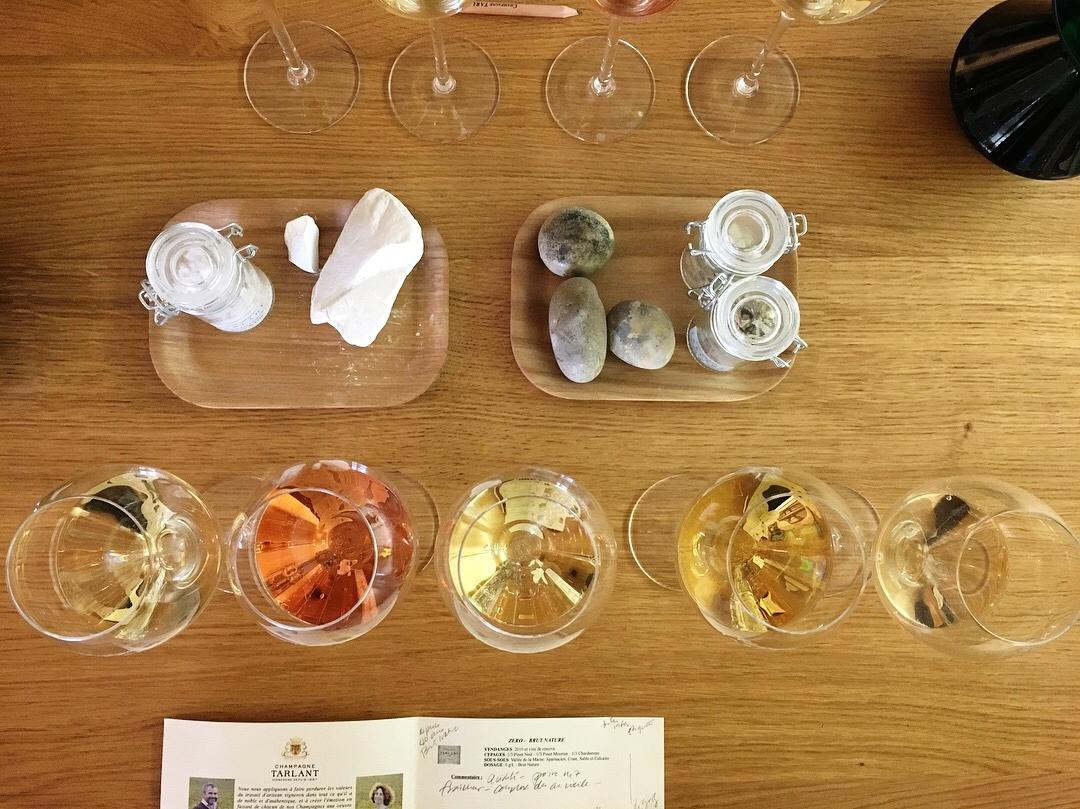 Dégustation chez Champagne Tarlant.   Crédit photo : Julie Carpentier