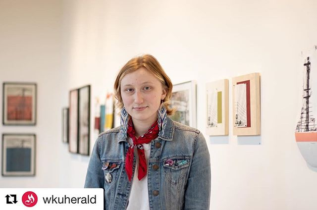 Super excited to be featured on the WKU Herald IG!!!! Repost @wkuherald with @get_repost ・・・ Marlee Jones is a WKU printmaking student who currently has her art displayed at The Downing Museum. The display will continue till April 20th with a fair well reception April 18th. Marlee's pieces are inspired by buildings and signs surrounding Bowling Green. To see more of Marlee's pieces you can follow her instagram @_lifeonmars__ 📸: @brittnaymorrison #wkuprintmaking