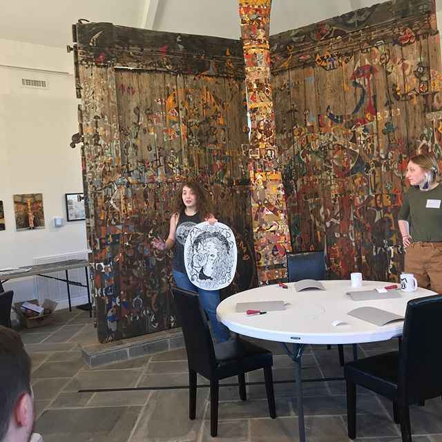 Today's workshop @downing_museum was really great! @bronwynliddle and @marleejones where very helpful and did a fantastic job! Thanks to all of the participants and Downing Museum!!! #wku #wkuart #wkuprintmaking #reliefprinting #printmaking