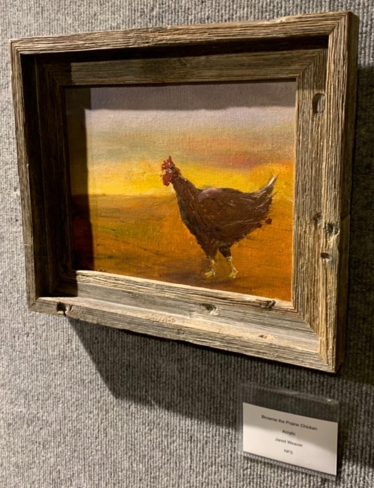 """""""Brownie the Prairie Chicken"""", Jared Weaver"""