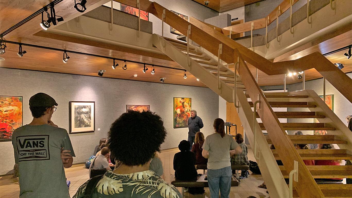 Dana Saulnier's Gallery Talk, September 24, 2019, FAC Main Gallery.