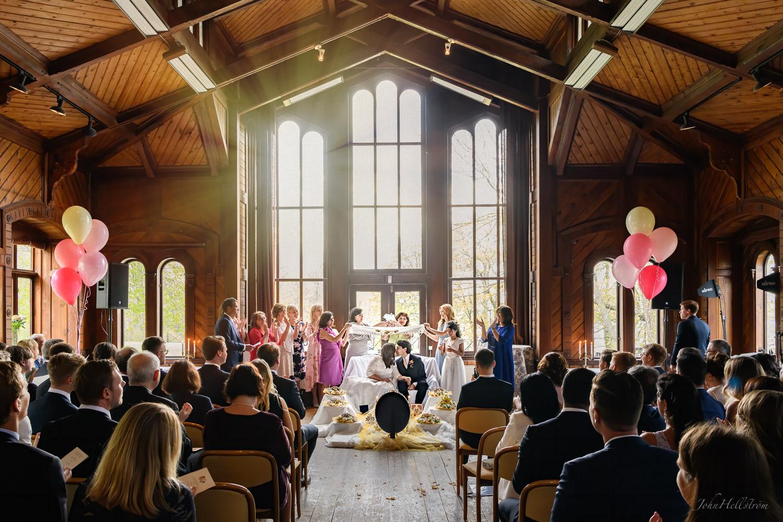 Wedding ceremony at Carlhälls Gård in Stockholm