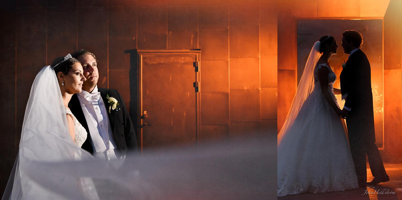 Utanför Grand Hotel under bröllopsfesten