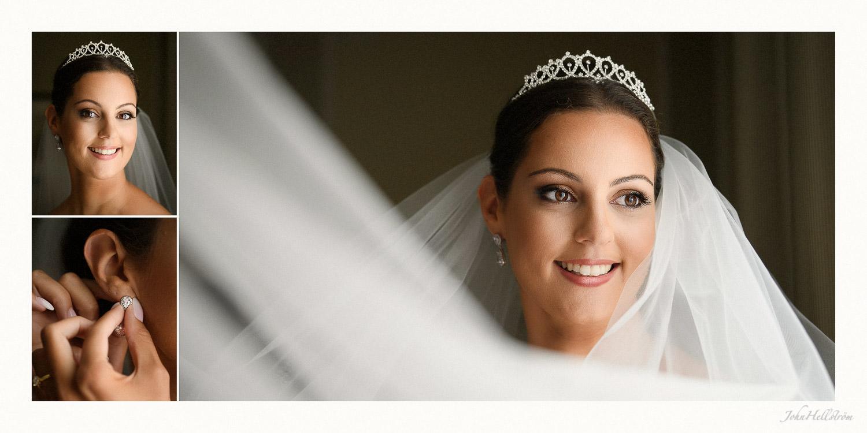 Bride prepares at Grand Hotel