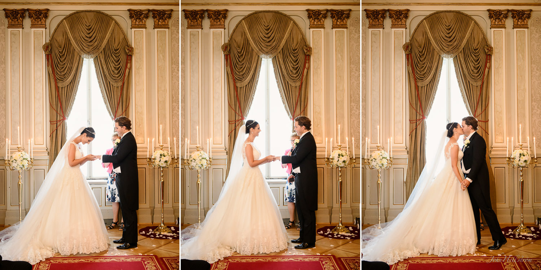 Wedding ceremony inside Grand Hotel