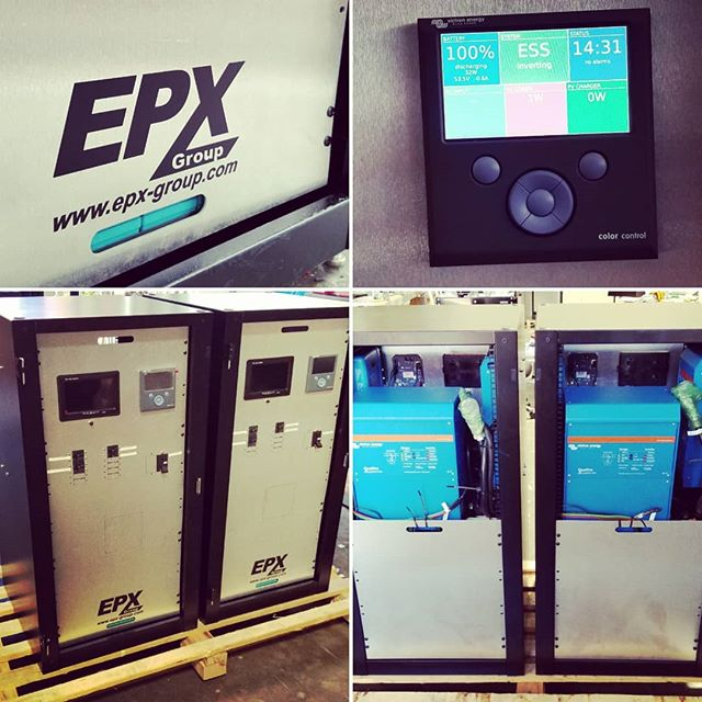 Two residential backup power systems for @ecohomecompany headed to Florida. @victron_energy @4solarlife . . . . #solar #battery #energystorage #lithium #cleantech #renewableenergy #futuretech #epxgroup #thosebatteryguys #ecohome #smarthome