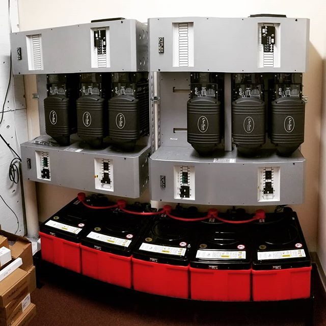 A new #energystorage install for a commercial peak shave application. 30kWh @lithionics Battery / 21kW @outbackpower inverter / 30kW #solar power. . . . . #renewableenergy #solarplusstorage #epxgroup #thosebatteryguys #lithionics #lithium #battery #cleantech #smarthome