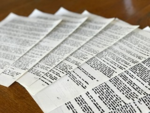 Copies of the original letters