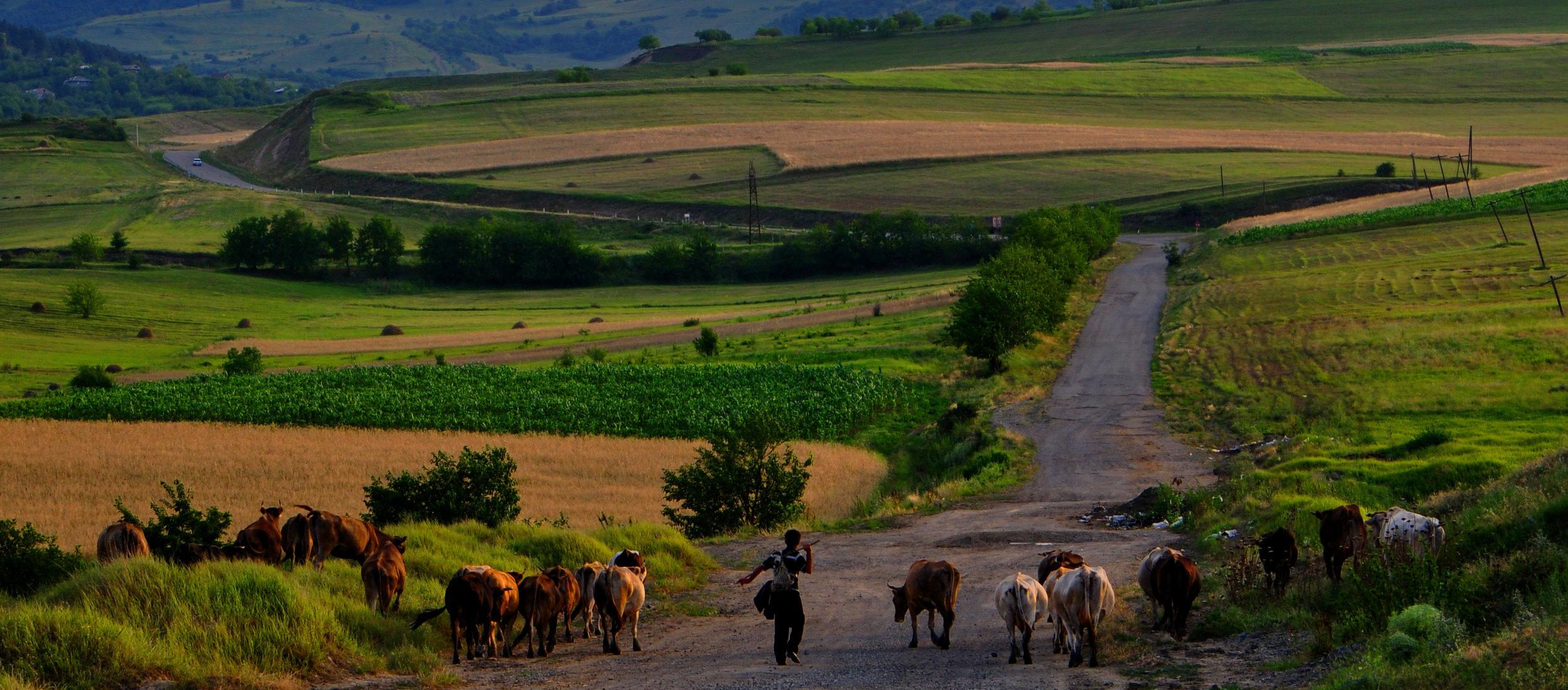 Podczas tułaczki przez Armenię.