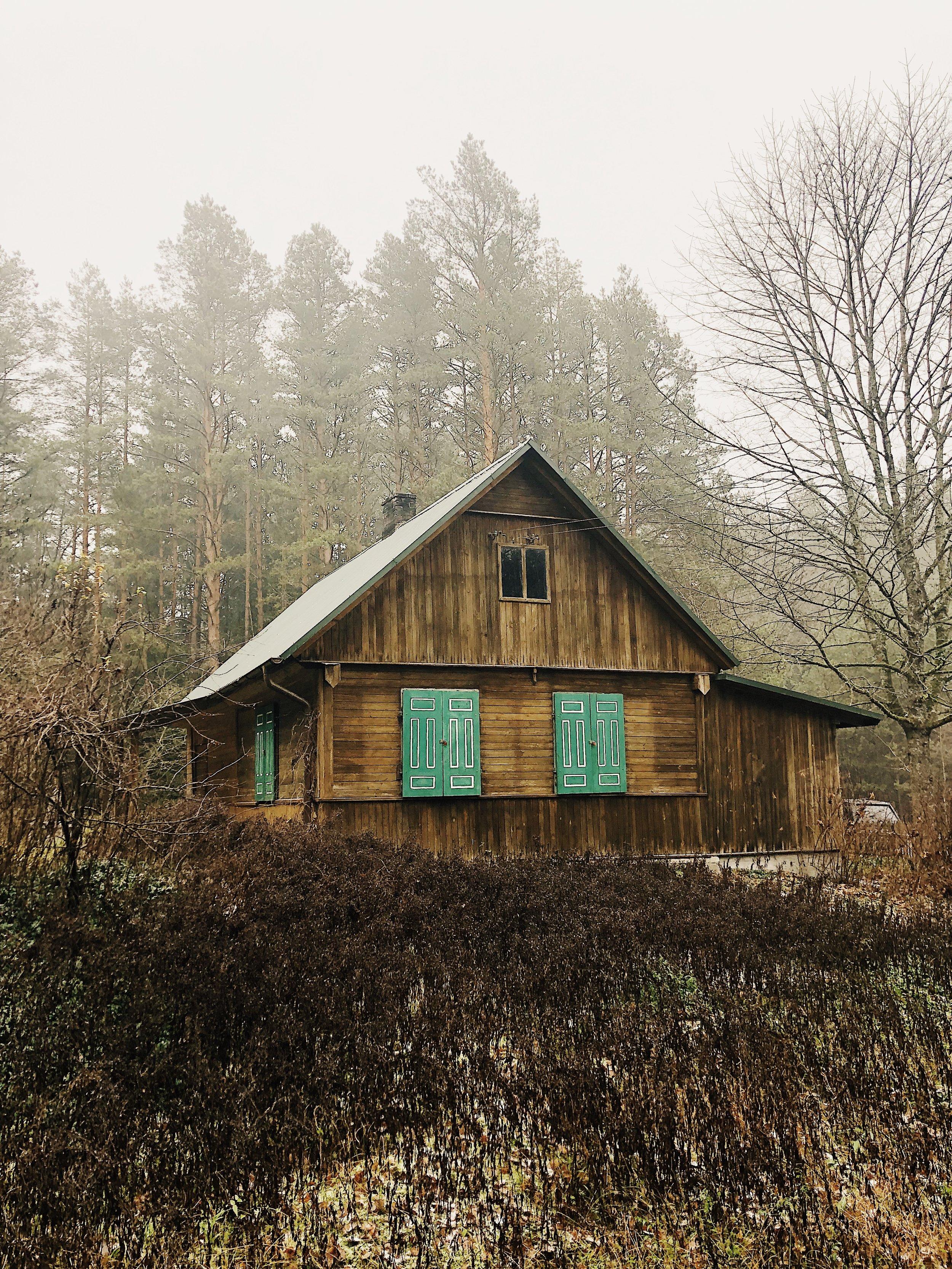 Widok na dom z lasu, bo innego widoku nie ma :D