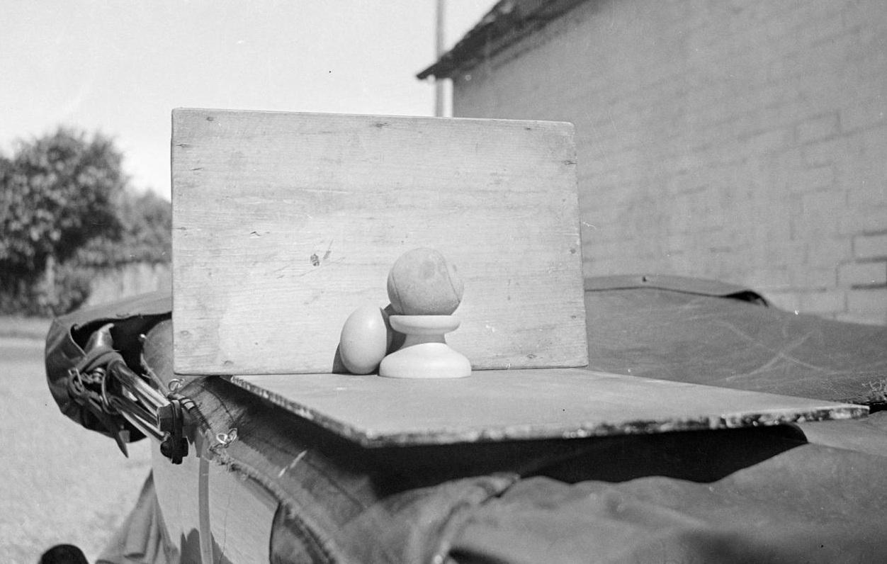 Paul Nash, 'Still life on car roof', c1934,  Tate Gallery .