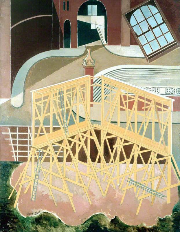 Paul Nash,  Northern Adventure,  1929.  Aberdeen Art Gallery