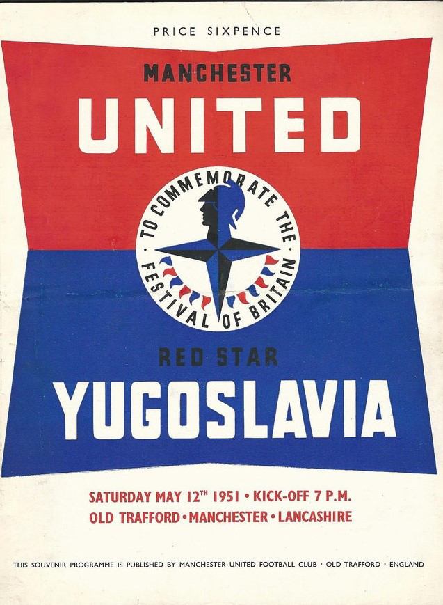 Manchester United Festival of Britain match against Red Star Yugoslavia