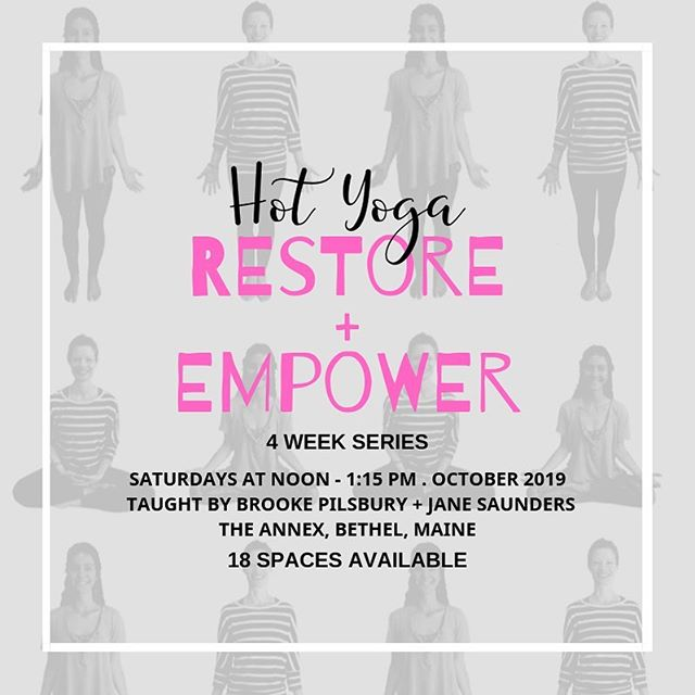 So excited to be co-teaching a very special series next month. Restorative + Empowerment yoga in one class with the heat turned way up! Find out more or sign up by tapping the link in my bio. Shalom dear ones.✌🏽 . . Update: 13 more spaces available.