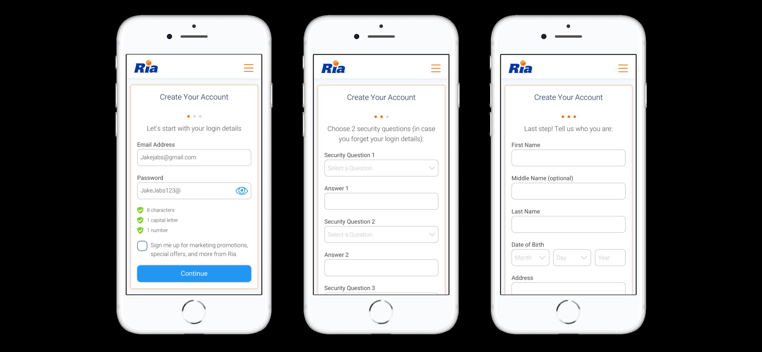 Ria Money Transfer Registration - 3.0 (January 2019)