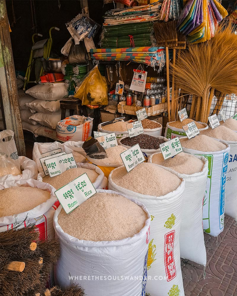 Different type of rice in Siem Reap