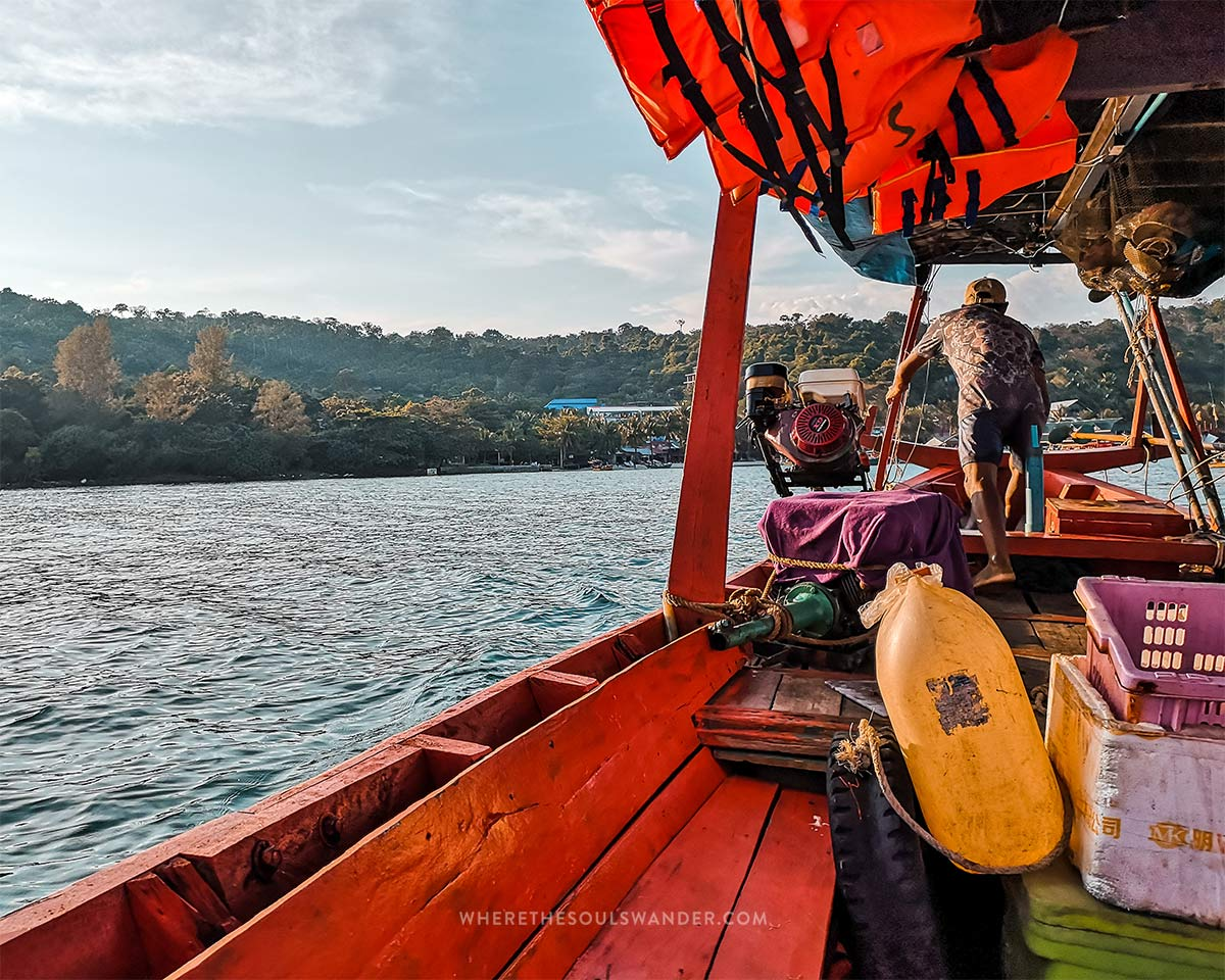 You can travel by boat from the islands of Koh Rong to Sihanoukville.