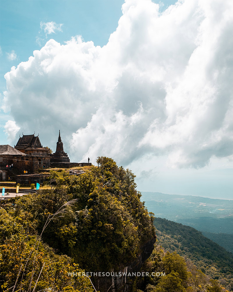 Bokor Hill in Kampot reaches a height of 1080 meter above sea level.