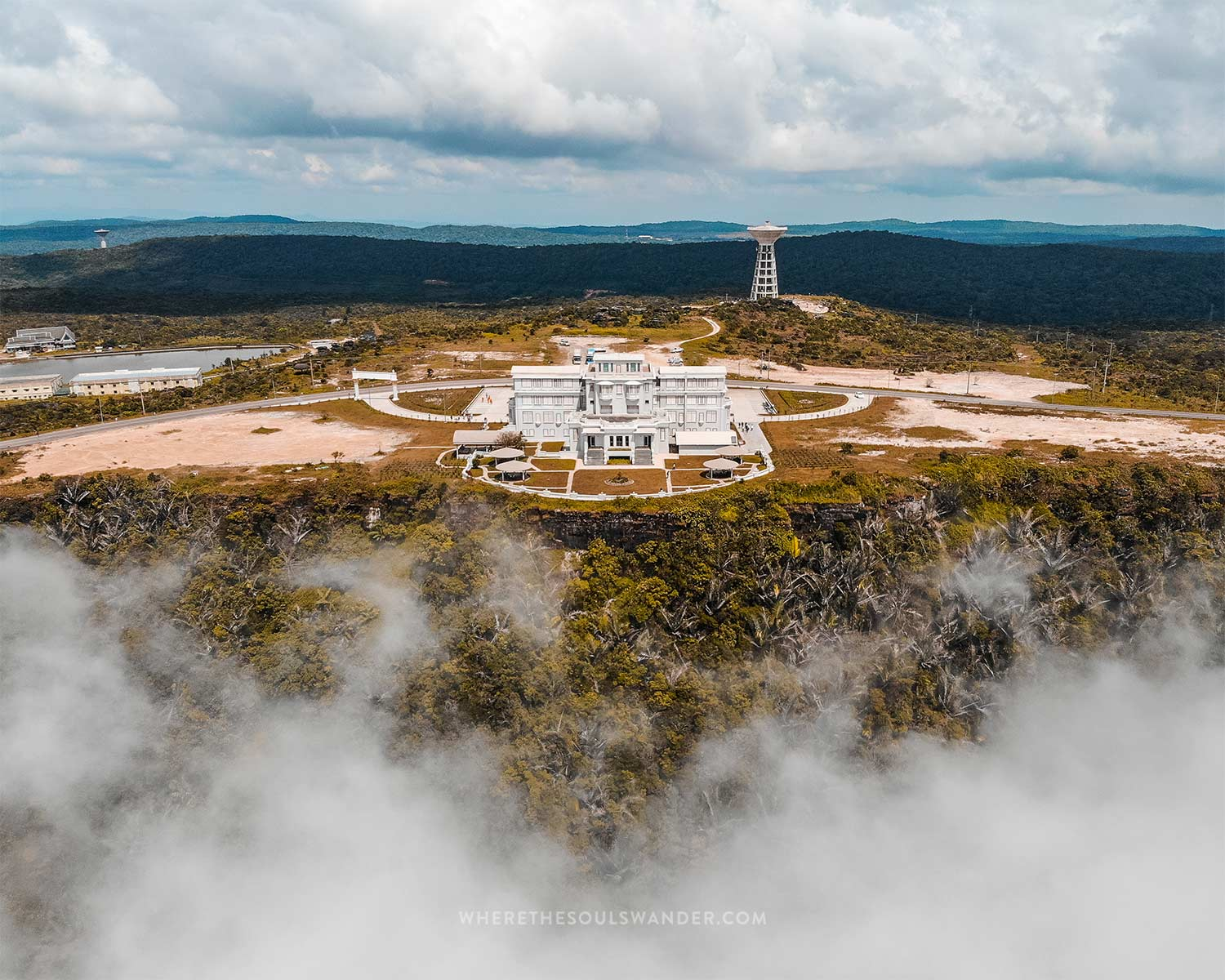 The old hotel on top of Bokor Hill at 1080 metre height