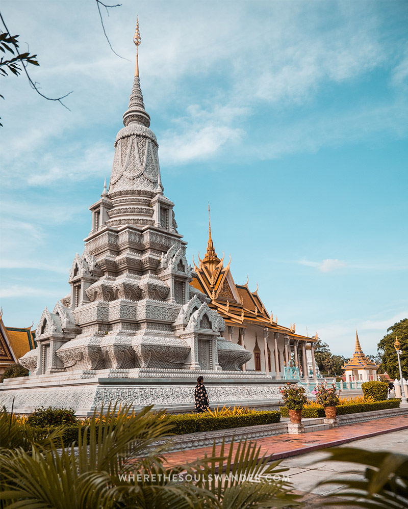 The silver pagoda in the capital of Cambodia, Phnom Penh.