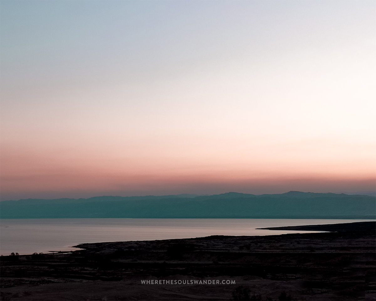 You can enjoy a lovely sunset over the Dead Sea in Jordan