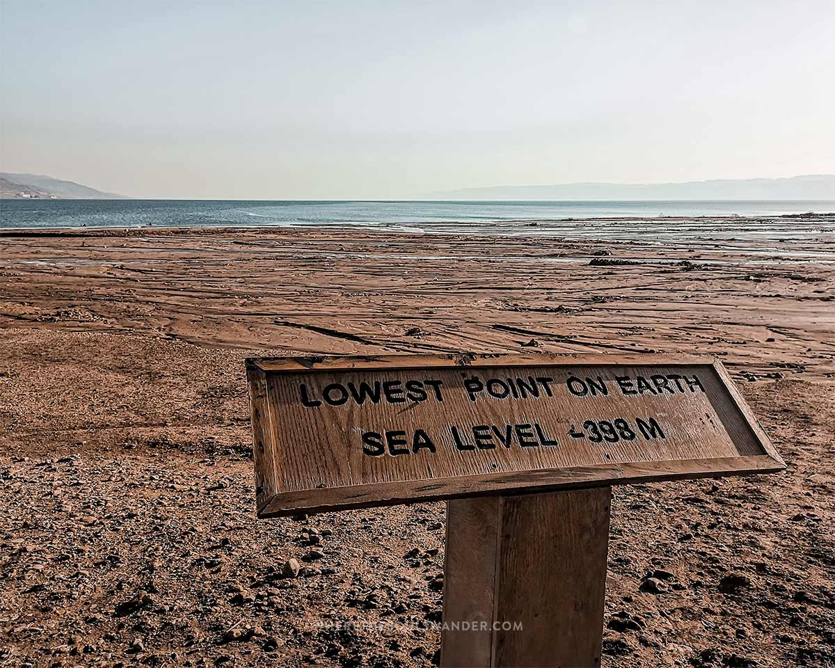 The Dead Sea is know as the lowest point on earth