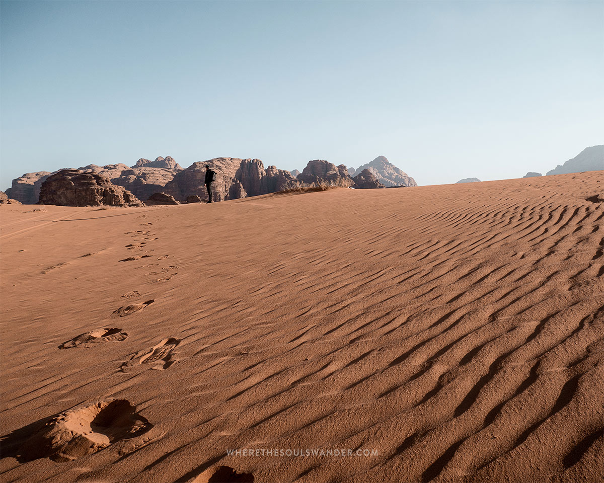Exploring the iconic Wadi Rum where The Martian was filmed.