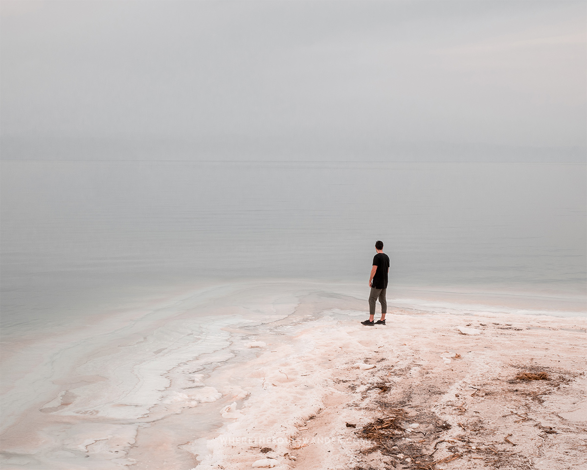 Salt at the Dead Sea in Jordan