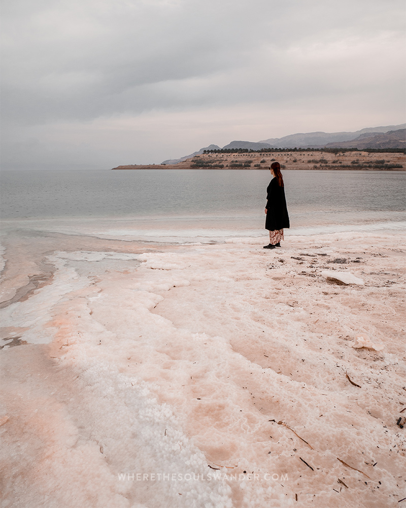 You can find a lot of beautiful salt ridges at the dead sea in Jordan