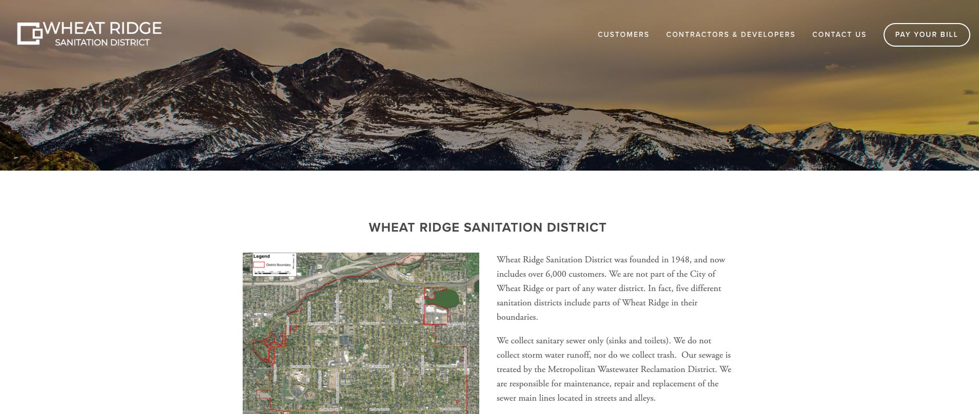 Wheat Ridge Sanitation website redesign using Squarespace.