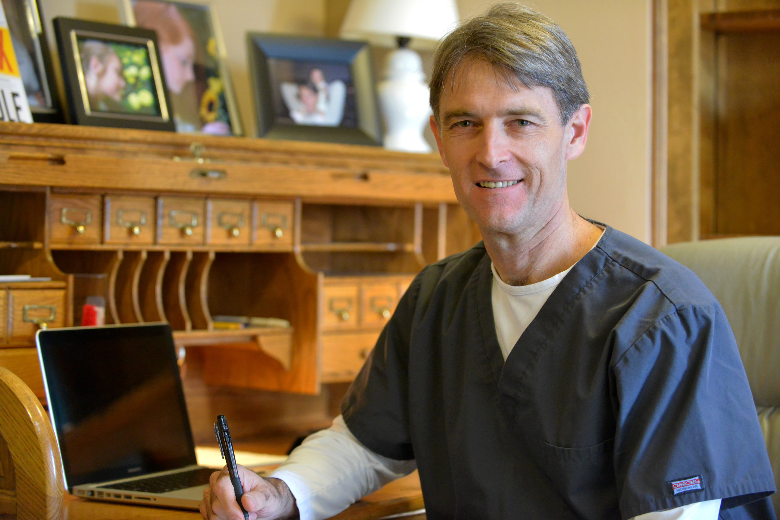 Dr. Lind working on health and fitness ideas