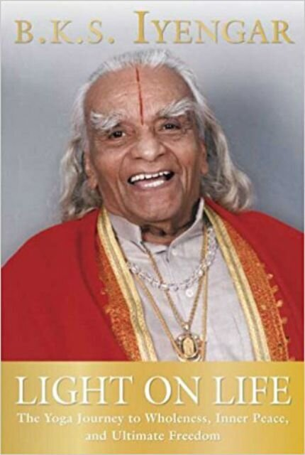 "B.K.S. Iyengar--hailed as ""the Michelangelo of yoga"" (BBC) and considered by many to be one of the most important yoga masters--has spent much of his life introducing the modern world to the ancient practice of yoga. Yoga's popularity is soaring, but its widespread acceptance as an exercise for physical fitness and the recognition of its health benefits have not been matched by an understanding of the emotional, intellectual, and spiritual development that the yogic tradition can also offer. In  Light on Life , B.K.S. Iyengar brings readers this new and more complete understanding of the yogic journey.  Here Iyengar explores the yogic goal to integrate the different parts of the self (body, emotions, mind, and soul), the role that the yoga postures and breathing techniques play in our search for wholeness, the external and internal obstacles that keep us from progressing along the path, and how yoga can transform our lives and help us to live in harmony with the world around us. For the first time, Iyengar uses stories from his own life, humor, and examples from modern culture to illustrate the profound gifts that yoga offers. Written with the depth of this sage's great wisdom,  Light on Life  is the culmination of a master's spiritual genius, a treasured companion to his seminal  Light on Yoga .  (Review from Amazon.com)    Buy the book used or new by following this link to:  BetterWorldBooks.com"