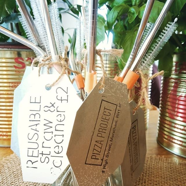 Eco Friendly Friday here at Pizza Project Cafe brings the launch of our new REUSABLE metal straws (straight and bent options available)  A steal at £2 each. . . . . . . . . #ecofriendlyfriday #ecofriendly #climatechange #reduceplasticwaste #zeroplastic #pizzaproject #authenticitalianpizza #pizza #metalstraw #reusablestraw
