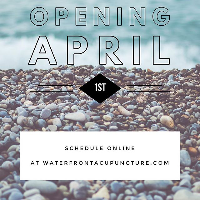 No April Fools here! We are officially open on April 1st! Let the healing begin!