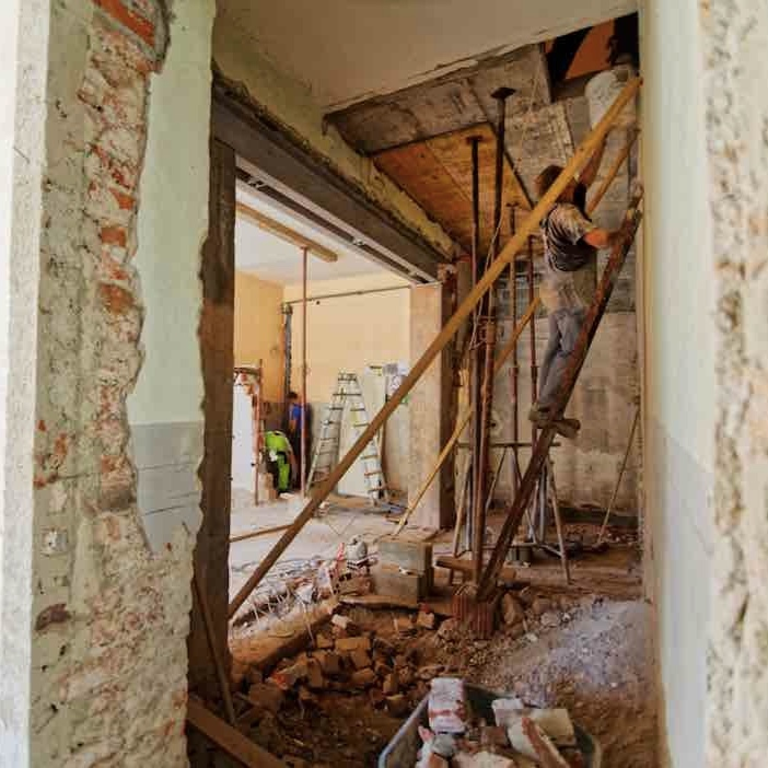 Builders window cleans after construction or renovation.