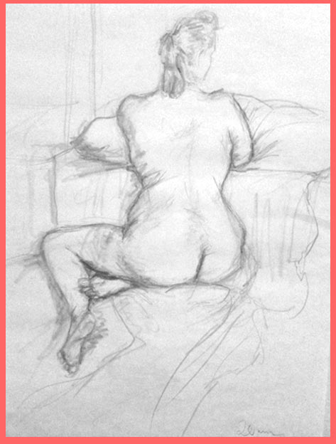 The best drawing from my first life-drawing session (since my uni days) from last thursday. taken with my iphone, please excuse the low quality.