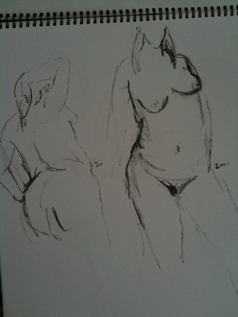 2mins poses - A2. great for developing the discipline to mark the most informative lines.