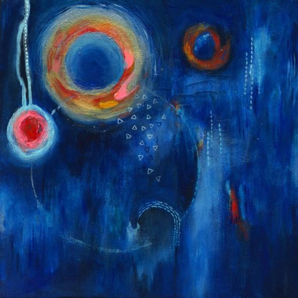 """CAPRICIOUS HAZE, Acrylic on canvas 10"""" x 10"""" (25.4cm x 25.4cm)"""